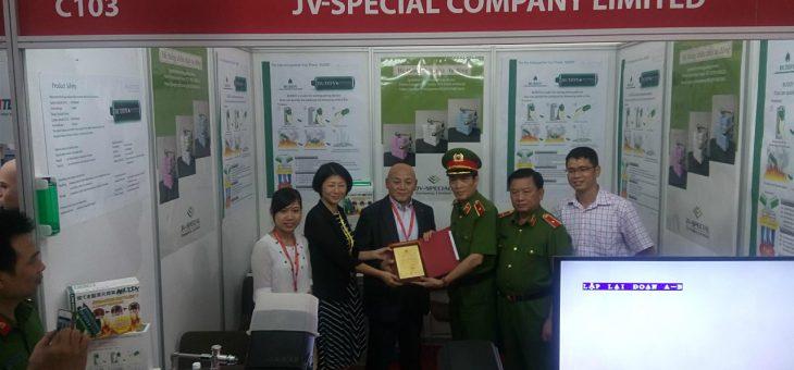 ベトナムのハノイで開催された防災とセキュリティーの展示会にブースを出して参加致しました。